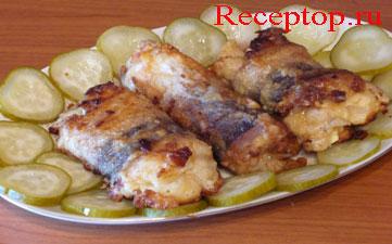 крученики - блюдо из рыбы