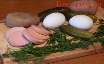 на фото овощи для мясного салата