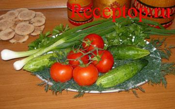 салат помидоры и огурцы